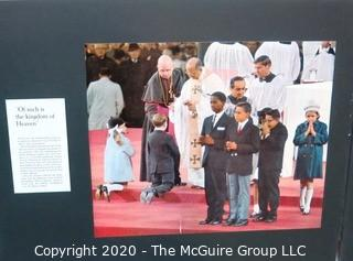 Large Format Color Photo Triptych of Photos from Pope Paul VI Visit to America by A Rickerby.