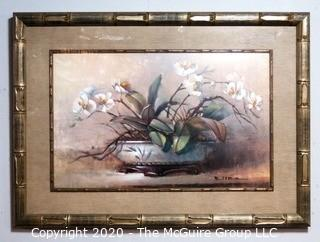"""Heavy Framed and Matted Print Entitled """"Orchid Elegance""""."""