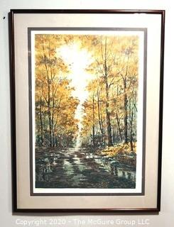 """Framed Signed and Numbered Color Print Entitled """"Lonely Road"""" by Michael Schofield, 284/350.  Measures approximately 35"""" X 47""""."""