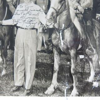 "Black & White Photo Signed by ""Red"" Neitzey."