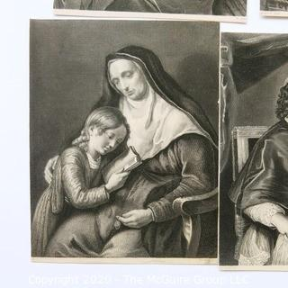 Group of Religious Themed Lithographs