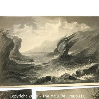 Group of Landscape and Farm Themed Lithographs
