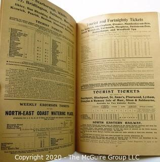 1899 Edition The East Coast Express Route To Scotland - Great Northern & North Eastern Railways Schedule