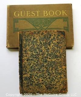 Antique Guest Register and Business Ledger