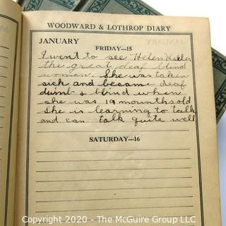 Five 1925 - 1928 Diaries of RB Curtiss.  Completed as he grew from a boy to a young man.