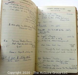 Collection of Diaries, Travel Logs, Stenography Book and Unused Address Book.