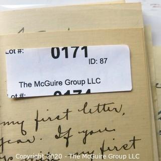 Collection of Antique Love Letters from Early 1900's