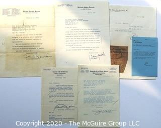 Letters on Senate Letterhead and House of Representatives from 1950's
