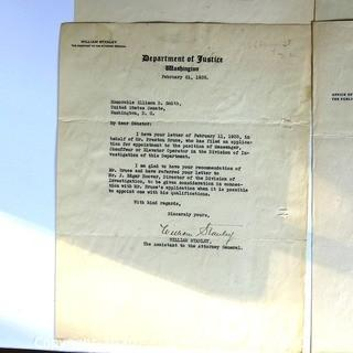 Letters from Several Federal Departments  with Signatures
