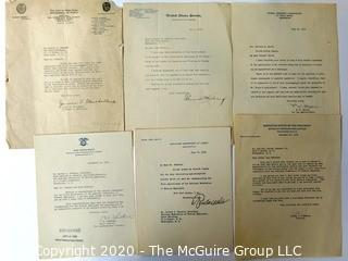 Group of Letters From Federal Departments on Letter Head