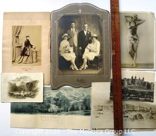 Group of Antique Cabinet Cards and Photographs
