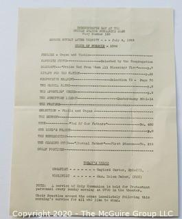 1943 Program for Independence Day at the US Submarine Base #126