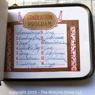 1938 Waverly Junior High School Brooklyn, NY Graduation Program and Autograph Book