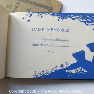 Vintage Composition Book and 1952 Diary From Camp Rockbrook North Carolina