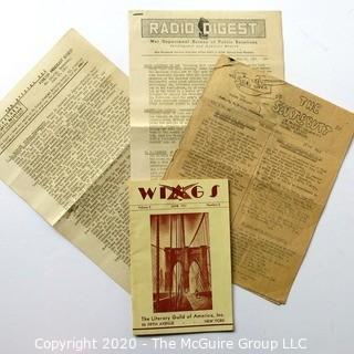 Four WWII Publications from Military Bases and 1931 Edition of Wings