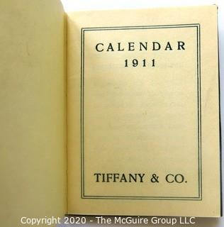 Pair of Two Antique Tiffany & Co Embossed Leather Calendar Books  - 1911 & 1935