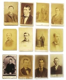 Twelve Antique Cabinet Cards of Dashing Young Men