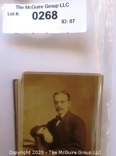 Eleven Antique Cabinet Cards of Men with Mustaches.  Includes Two Cards of the Same Gentleman, Uncle Fred Cheney.