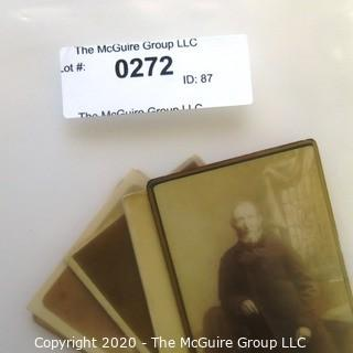 Seven Antique Cabinet Card Photos of Wise Old Men.  Includes one with tax stamp.