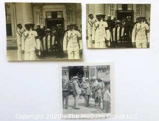 Three Black & White Personal Photos of President Tafts' Funeral at the White House and President Truman.