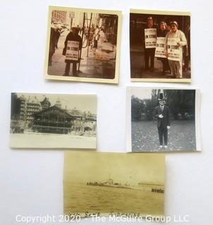 """Group of Personal Photographs.  Includes """"Uncle Sam's Submarine""""."""