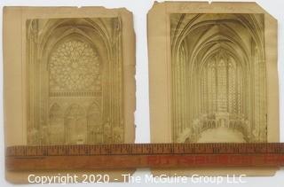 Two Victorian Photos of Saint Chapelle Paris France.