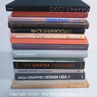 Group of Vintage Books, Many on Graphic Design