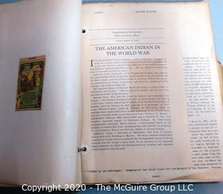 Pair of Vintage Books.  One on how to photograph with a Leica Camera and the second is a scrap book  on Native Americans