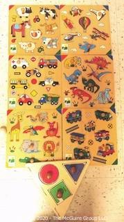 Group of 7 Children's Pre-School Wooden Tray Puzzles - Room 13 Toy Closet {marked lot 181}