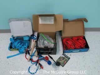 (2) New in Box (NIB) SLACKER kits and (1) Zip Line Kit - Room 15