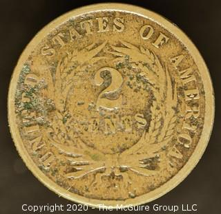 1865 Two Cent Large Motto