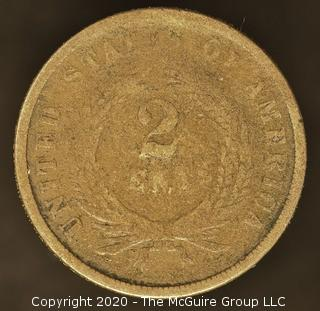 1866 Two Cent Large Motto