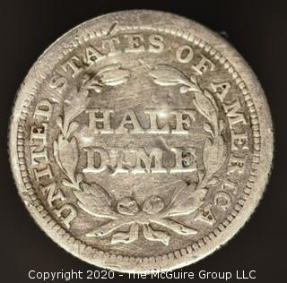 1853 Liberty Seated Half Dime; Arrows