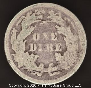 1876 Liberty Seated Dime; Legend Obverse