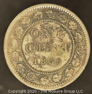 1859 Canadian One Cent Coin