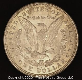 """1921-D Morgan Dollar (Note: The mint mark description was changed from """"O"""" to """"D"""" at 6:09pm ET, April 9, 2020)"""