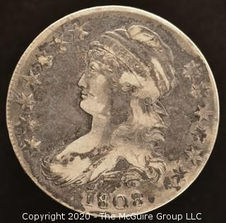 1808 Capped Bust Half Dollar - Silver
