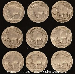 1926, 1927, 1935, 1936, 1937, 1937-D Buffalo Nickels
