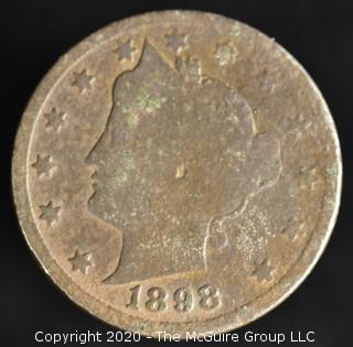 """1898 """"V"""" Nickel"""