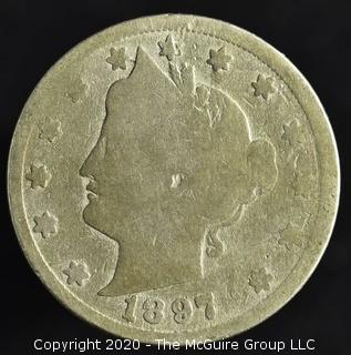 """1897 """"V"""" Nickel"""