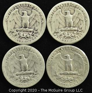 (4) 1947 U.S. Silver Quarters