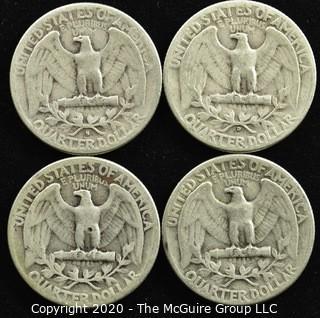 (4) 1950 U.S. Silver Quarters