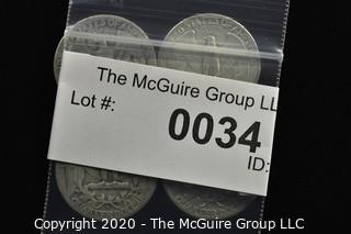(4) 1951 U.S. Silver Quarters