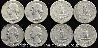 (4) 1952 U.S. Silver Quarters