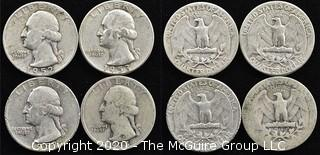 (4) Silver U.S. Quarters: 1-1935; 2-1952 and 1-1953
