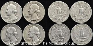 (4) 1953 U.S. Silver Quarters