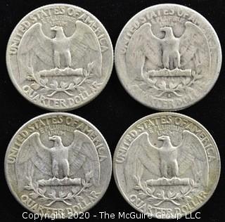 (4) 1954 U.S. Silver Quarters