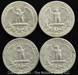 (4) 1955 U.S. Silver Quarters