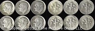 (6) U.S. Silver Dimes: 5-1946; 1-1964