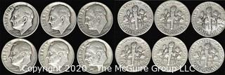 (6) 1946 U.S. Silver Dimes